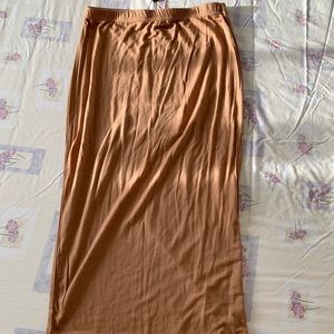 Camel stretch midi skirt